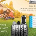 スマホで車のタイヤの空気圧が監視できるTPMS「FOBO TIRE」