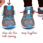 飛んでも跳ねても取れないマグネット靴紐アダプター「Zubits」