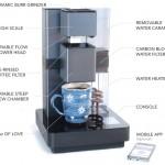 スマホで操作して好みのコーヒーが入れられるコーヒーメーカー「BRUVELO」