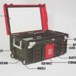 USB電源からBluetoothスピーカー、LEDライトまでついた工具箱「Coolbox」