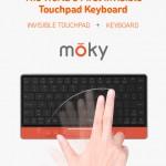 キー全面がタッチパッドに変身するBluetoothキーボード「moky」
