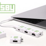 モジュラー型USB TYPE-Cハブ「Cusby」