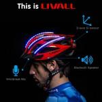 ハンズフリーもできる自転車用LED内蔵ヘルメット「LIVALL」