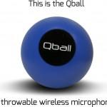 マイク回しで時間短縮ができるボール型ワイヤレスマイク「Qball 」