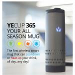 ワイヤレス充電にも対応した電動保冷・保温マグ「Yecup 365」