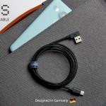 一生涯保障の急速充電対応microUS,Lightning,USB-Cケーブル「ZUS」