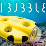 ソロダイビングで自撮り撮影ができる水中ドローン「iBubble」