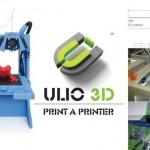 プラスティック部品は自分でプリントするFDM/FFF方式3Dプリンターキット「ULIO 3D」