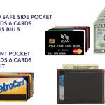 スリムパンツのポケットに目立たず入り込むスリム財布「slimJIMMY」