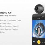 PC用のWEBカメラとしても利用可能なAndroid用360°撮影VRカメラ「Insta360 Air」