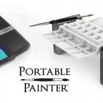 筆洗いバケツが2つもついてiPhone7Plusクラスの大きさに折りたためるポータブルパレットセット「Portable Painter」