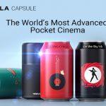 ビデオ、ゲーム機、PC、そしてスマホと何でも繋げて大画面で楽しめる350ml缶サイズの100インチプロジェクター「Capsule」