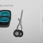 電動アシストもあり、自動でもついて来るA,B両型ベビーカー「Smartbe」