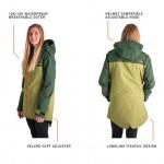 これって雨の日の自転車にも便利かも!?女性が女性の為にデザインしたスノーボードジャケット「UNION JACKET」