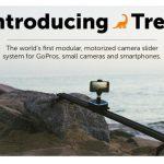水平だけではなく斜めにも駆け上がる事ができ、360°パノラマ撮影も可能な撮影用スライドレール「Trek」