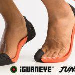 リアルに素足に近い状態で走る事ができるサンダルの様なラニングシューズ「iGUANEYE Jungle」