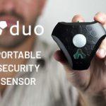 いつでもどこでも置くだけで直ぐに監視活動に入る事ができるセキュリティー・モーションセンサー「Duo」