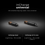 キーチェーンアクセサリーとして!!全てのスマホを充電する事ができるPUレザーケーブル「inCharge Universal」