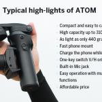 機能だけでなく携帯性にも注目したい、もはやマスト・アイテムとなったスマートフォン用ジンバル「ATOM」