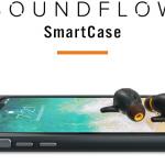 片耳のイヤホンを無くしても安心!!保証プログラム付きのスマホケース一体型Bluetooth5対応イヤホン「SoundFlow」