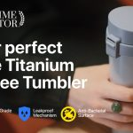 チタン合金製で一生使い続けられ、酸化チタンで抗菌効果も持ったタンブラー「Toki 16oz Pure Titanium Vacuum Coffee Tumbler」
