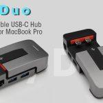 セパレートされ!!ノートPCスタンドとしても機能する16インチMacBook Proでも使えるUSB-Cマルチハブ「JoyDuo」