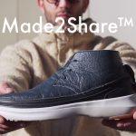 靴底に穴が開いても靴底だけを交換でき、TPOに合わせてアッパーも交換可能なカジュアルシューズ「Made2Share」