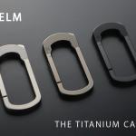 可動部分がないので壊れる事がない、切り出しチタン合金製のカラビナ「The Helm Carabiner」