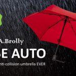 自動開閉するだけじゃない、傘がクルクルと回り、日傘としても使える折り畳み傘「A.Brolly Tube Auto」
