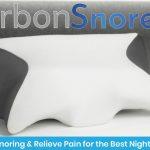 俯せ寝の方必見です!!最高に俯せで寝やすい、イビキを防止する抗菌・消臭枕「Carbon SnoreX™」