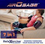 空気の力で足や腕をグイグイを押さえてくれる「AirOsage Cordless & Portable Air Leg-Arm Massager」