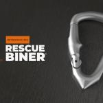 車外に出たいのにドアを開ける事ができない様な緊急時に車内脱出機能を備えたカラビナ「RescueBiner」