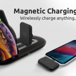 スマートフォンの充電を簡素化するマグネットコネクタ搭載のモバイルバッテリー付属の充電ドッグ「MiTran」
