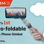 """<span class=""""title"""">撮影開始までの時間を大幅に短縮しただけでなく、携帯性もアップさせたスマートフォン用ジンバル「ATOM 2」</span>"""
